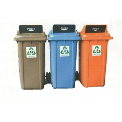 240L Recycle Bin (3 in 1) with Proper Recycle Flip Cover